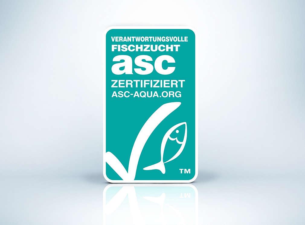Produktsiegel: ASC